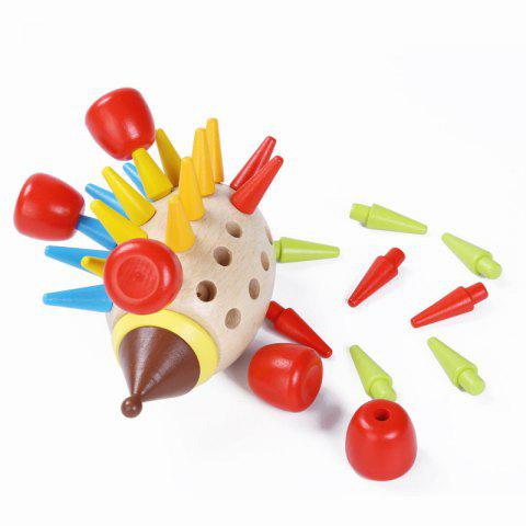 Outfits Wooden Magnetic Colored Hedgehog Building Toy