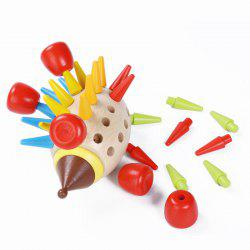 Wooden Magnetic Colored Hedgehog Building Toy -