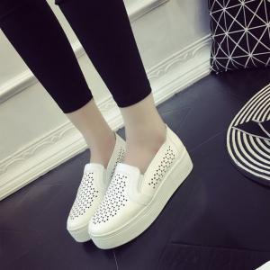 Tête ronde College Petite chaussure blanche -