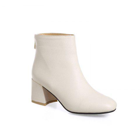 Online Women's Ankle Boots Solid Color Plain Style All Match Boots