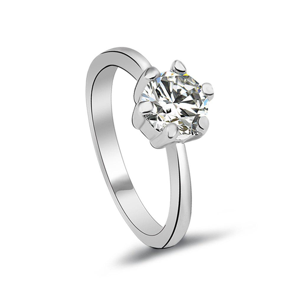 Platinum-Plated Sterling Silver Swarovski Zirconia His &amp; Hers Wedding RingsJEWELRY<br><br>Color: FROST;