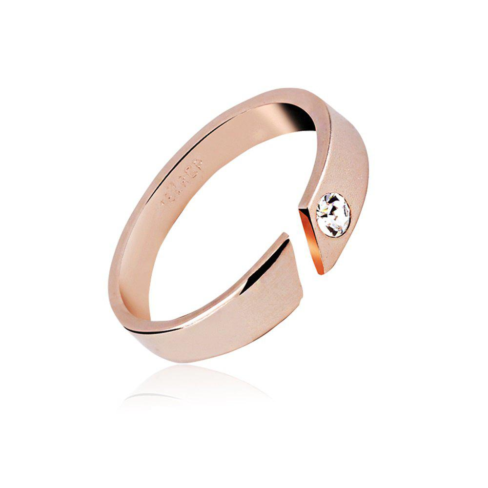 14k Rose Gold Ring with Crystal Simple Love for Women and MenJEWELRY<br><br>Color: MARIGOLD;
