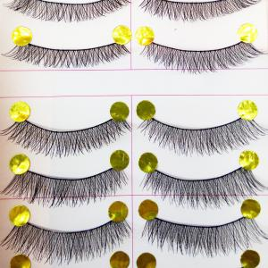 Natural Pure Manual False Eyelash Cross and Glue and Auxiliary Device and Small Scissors Suits -