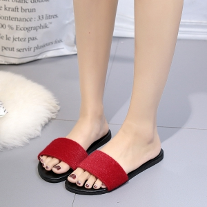 YQ-A97 Flat Bottomed Fashion Slippers Casual Shoes Word Drag -