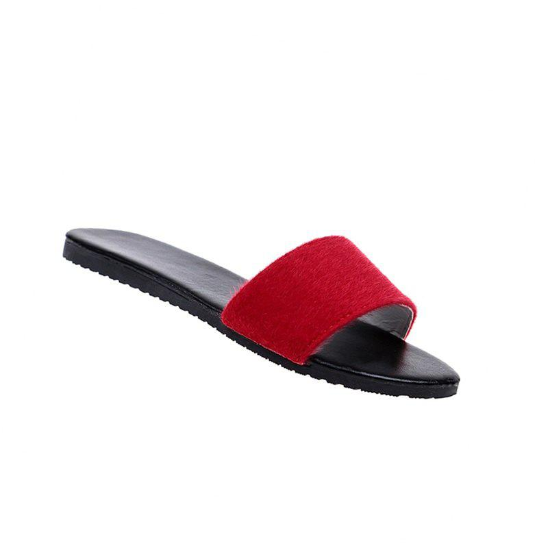 Fashion YQ-A97 Flat Bottomed Fashion Slippers Casual Shoes Word Drag