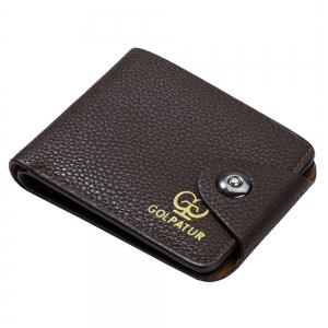 JPT-9003 Magnetic Buckle Man Purse Short Band Bag Leisure Card Wallet -
