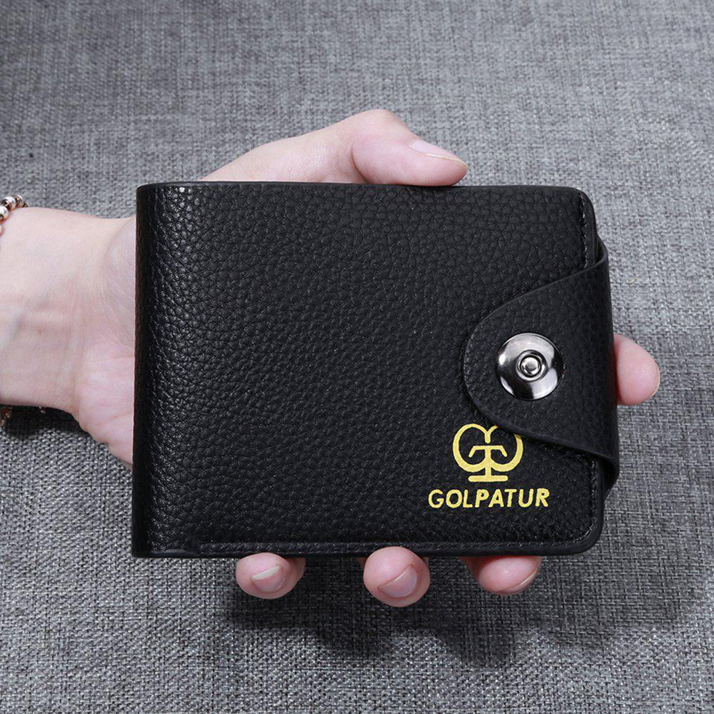 Outfit JPT-9003 Magnetic Buckle Man Purse Short Band Bag Leisure Card Wallet