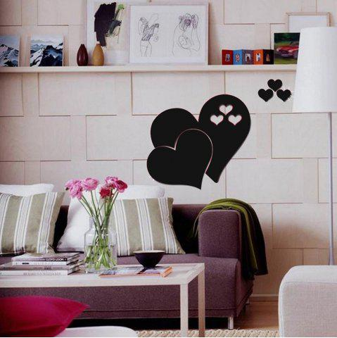Coeur Sticker Decal Sticker belle maison bricolage Art miroir autocollant - BLACK