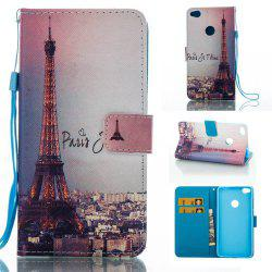 Signature Tower Painted PU Phone Case for HUAWEI P8 Lite 2017 -