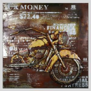 Hua Tuo Motorcycle Oil Painting Size 70 x 70CM HT - 5363 -