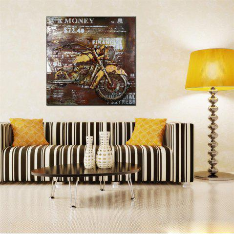 Chic Hua Tuo Motorcycle Oil Painting Size 70 x 70CM HT - 5363