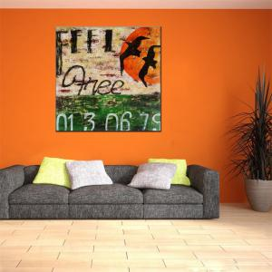 Hua Tuo Abstract Oil Painting for Home Dector -