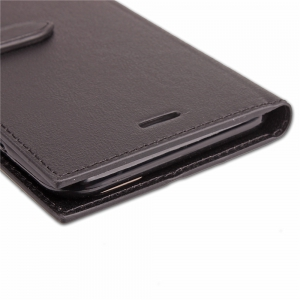 Velcro business Card Lanyard Pu Leather for MOTO G5 Plus -