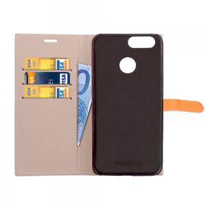 Velcro Business Card Lanyard Pu Leather for HUAWEI Nova 2 -