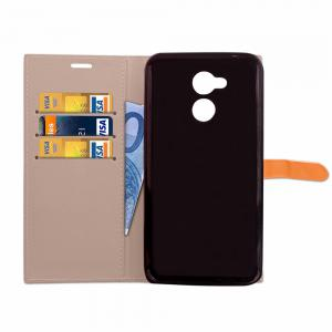 Velcro Business Card Lanyard Pu Cuir pour HUAWEI Honor 6A -