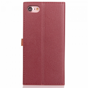 Velcro Business Card Lanyard Pu Leather for iPhone 8 -