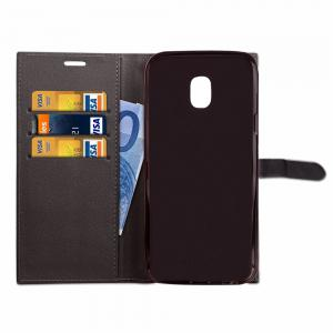 Velcro Business Card Lanyard Pu Leather for Samsung J3 (2017) -