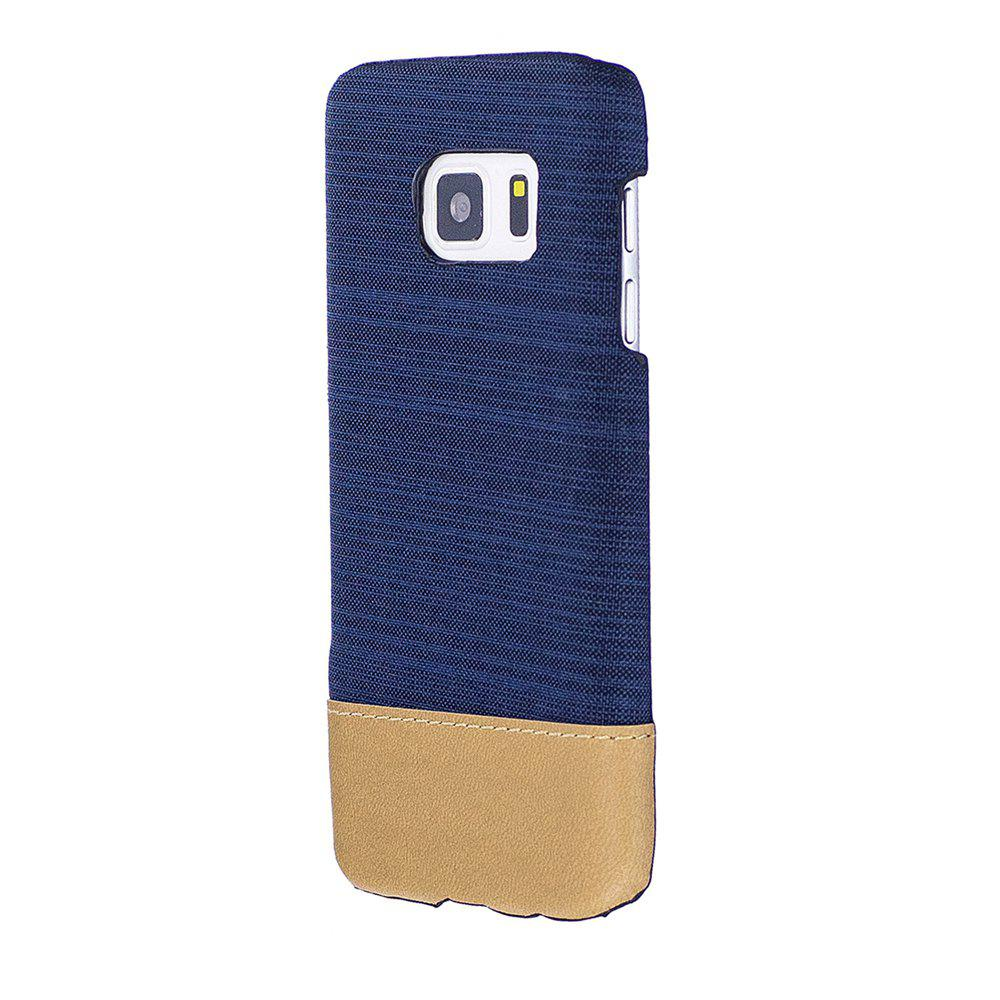 Affordable Wkae Jeans Canvas Leather Back Case Cover for Samsung Galaxy S7