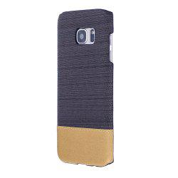 Wkae Jeans Canvas Leather Back Case Cover for Samsung Galaxy S7 Edge -