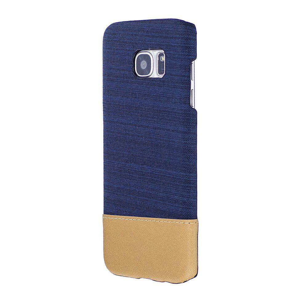 Sale Wkae Jeans Canvas Leather Back Case Cover for Samsung Galaxy S7 Edge
