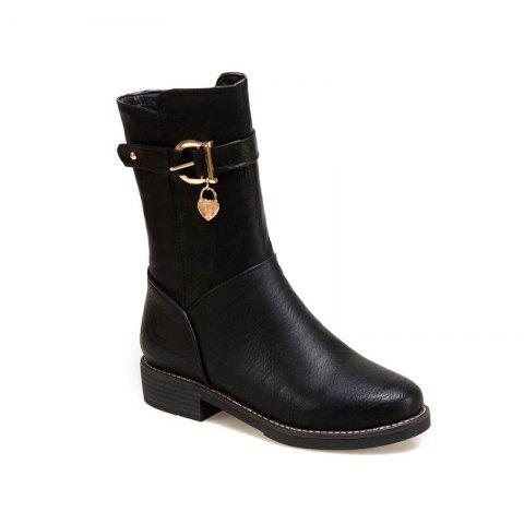 Hot New Autumn and Winter Low Heel of The European and American Style Female Boots