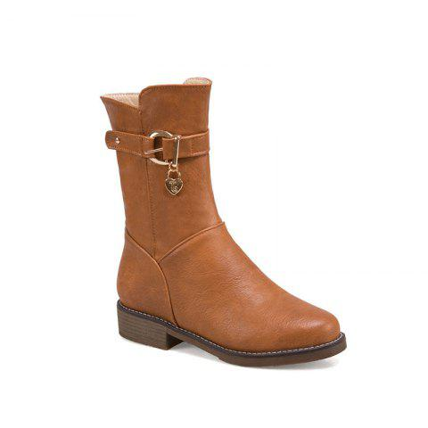Trendy New Autumn and Winter Low Heel of The European and American Style Female Boots