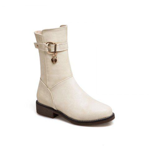 Fashion New Autumn and Winter Low Heel of The European and American Style Female Boots