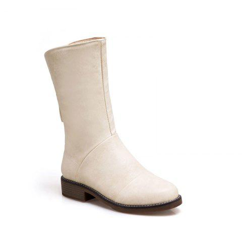 Trendy The New Style Low Heel Fashion A Pair of Boots