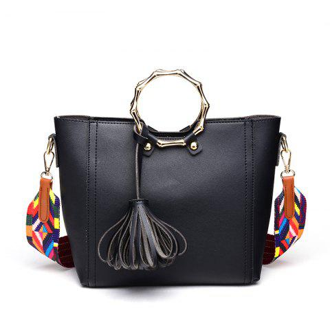Fashion Fashion Simple Shoulder Free Handbag with Tassel