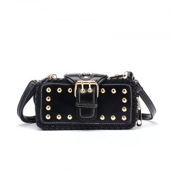 Woven Rivet Multiple Layers Handbag Single-shoulder Crossbody Bag -
