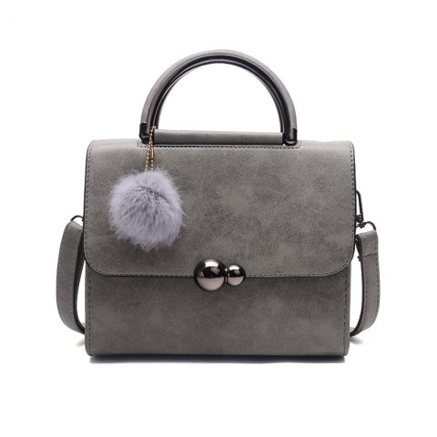 Best New Autumn Lichee Grain Pompon Handbag Crossbody Bag