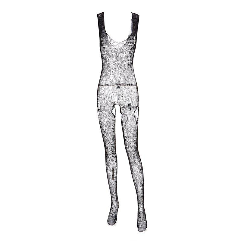 e8a34c3bdafc Trendy Lingerie Suspender with Hollowed-out Sexy Crotch Mesh with A Jumpsuit  Top