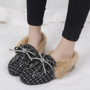 New Winter Woolen Cashmere with Flat Shoes -