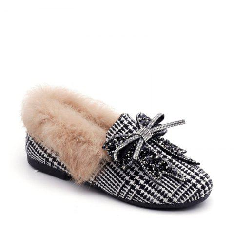 Unique New Winter Woolen Cashmere with Flat Shoes