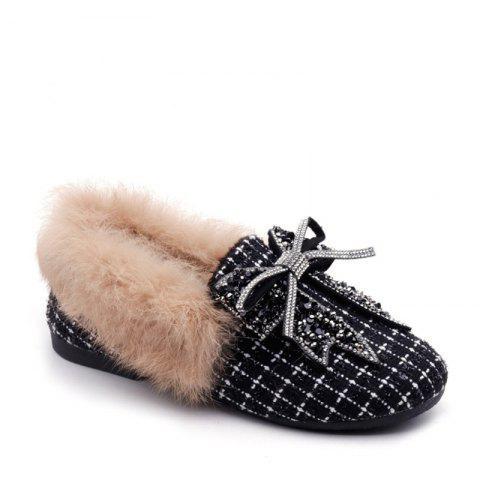 Shop New Winter Woolen Cashmere with Flat Shoes