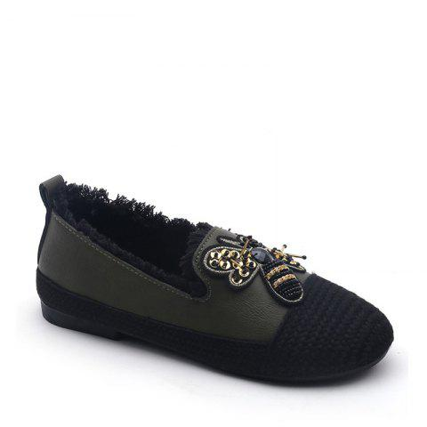Online Lady Stitching Insect Decorative Casual Shoes