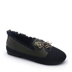 Lady Stitching Insect Decorative Casual Shoes -