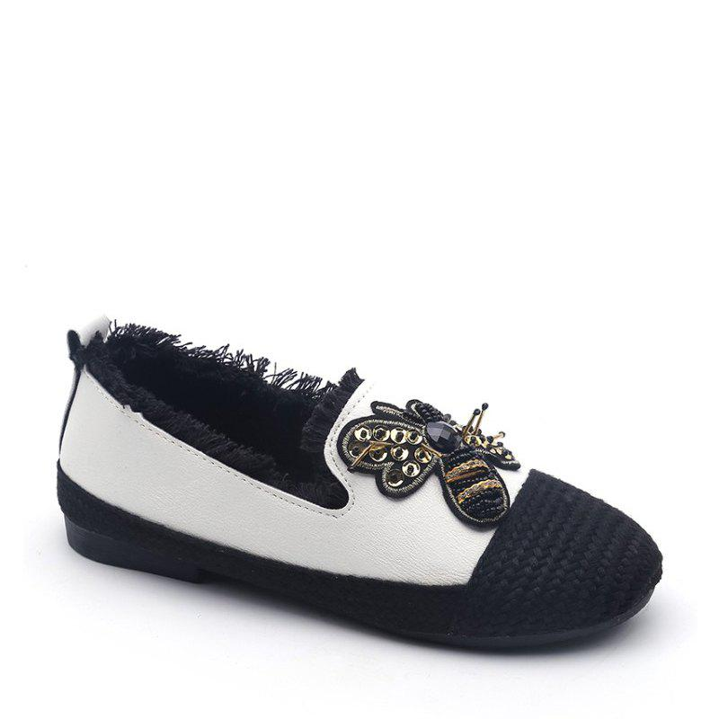 Chic Lady Stitching Insect Decorative Casual Shoes