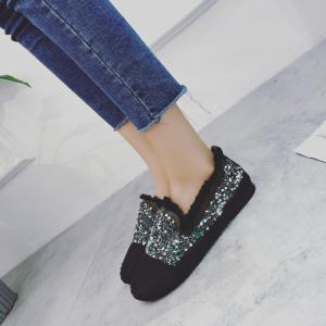 Women's Knitting  Sequins  Decorative Flat Bottom Casual Shoes -