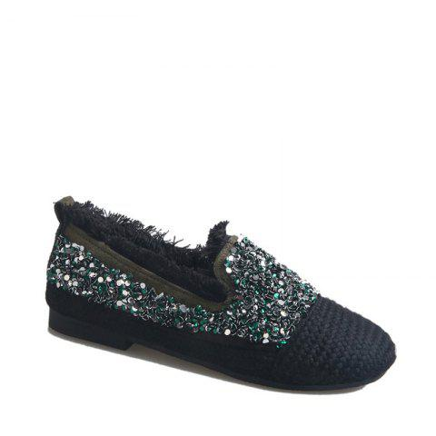 Shops Women's Knitting  Sequins  Decorative Flat Bottom Casual Shoes