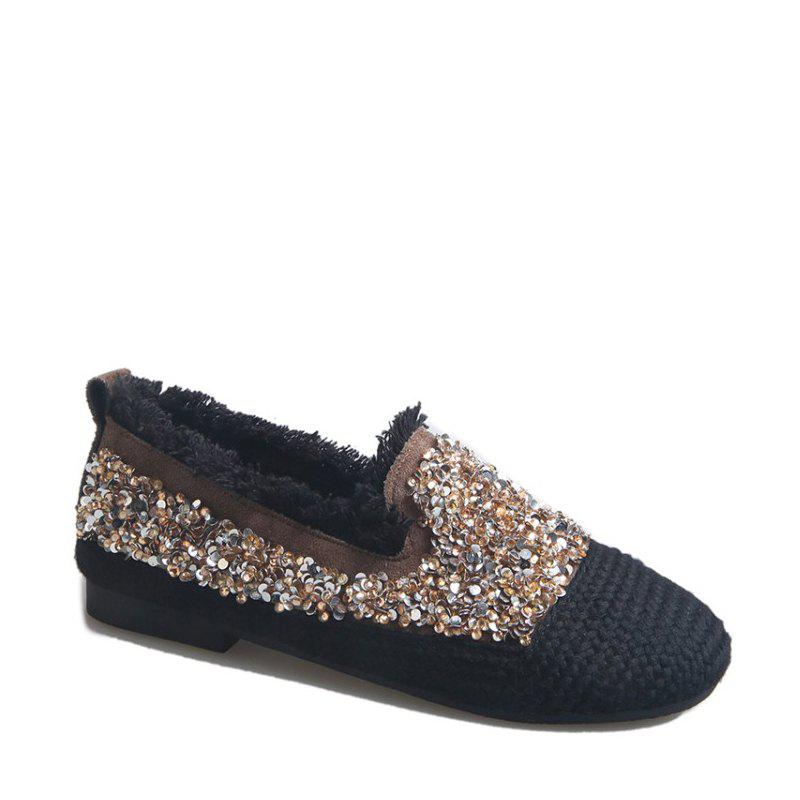 Affordable Women's Knitting  Sequins  Decorative Flat Bottom Casual Shoes