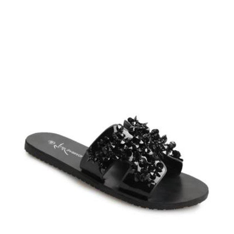 H Shape Bare Toe Rhinestone Тапочки