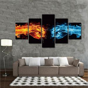 Abstract 5Panel Unframed Canvas Prints Wall Art -