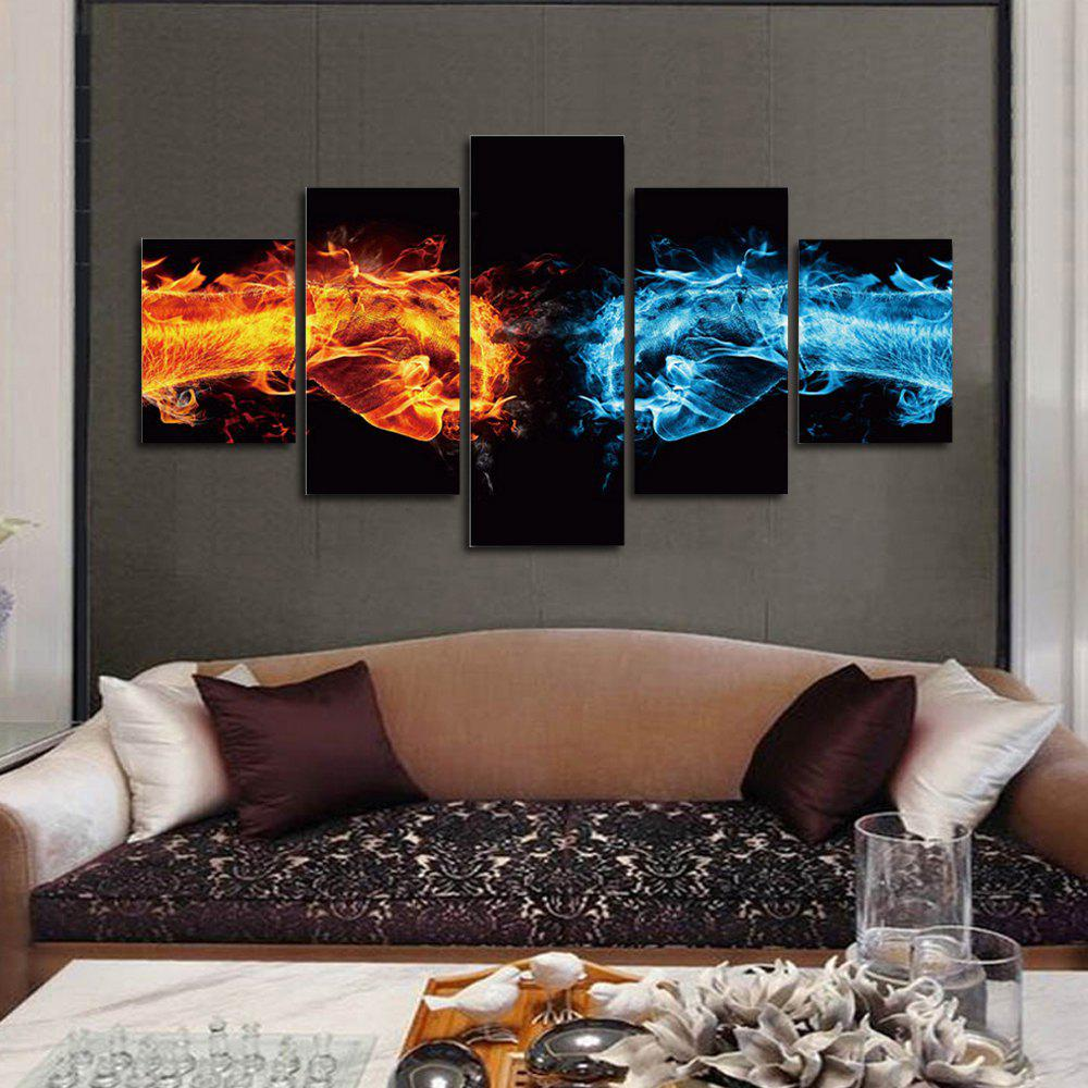 Hot Abstract 5Panel Unframed Canvas Prints Wall Art