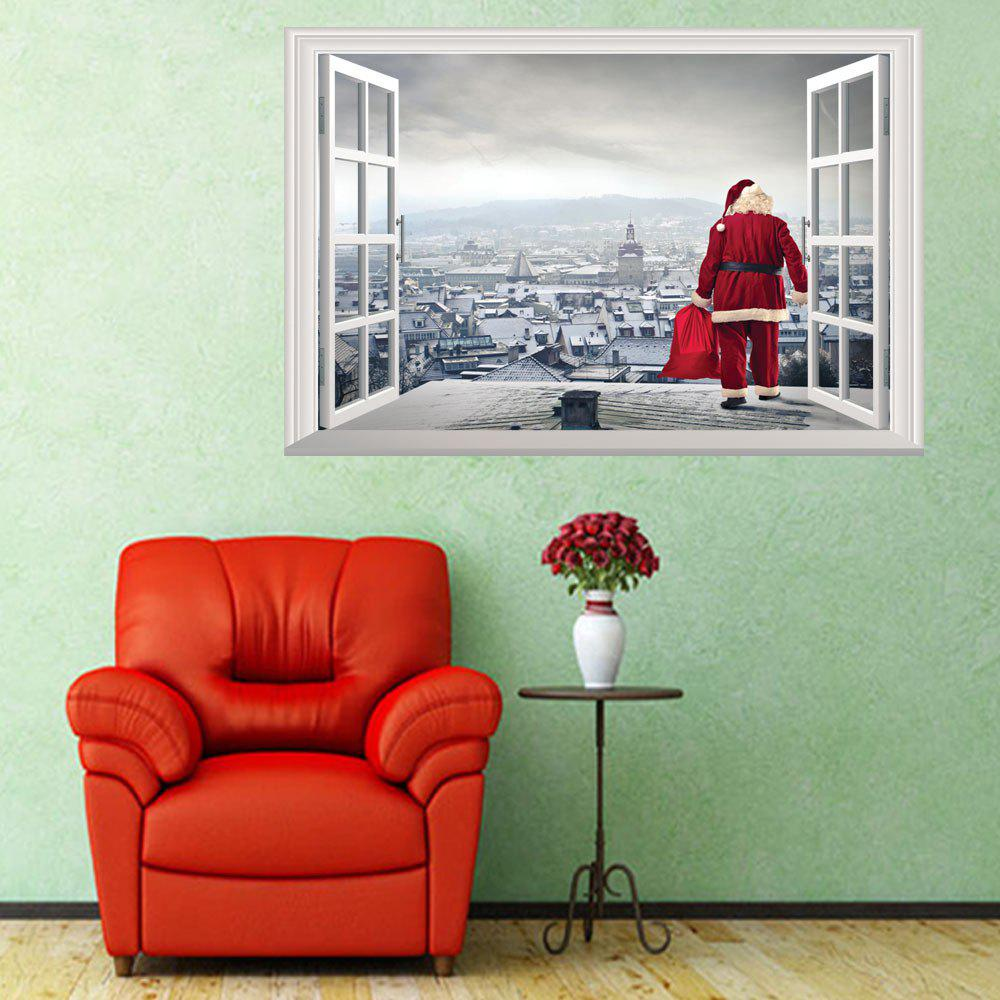 3D Hole Santa Claus Pattern Christmas Wall StickerHOME<br><br>Color: COLORMIX; Type: 3D Wall Sticker; Subjects: Cartoon,Christmas; Art Style: Plane Wall Stickers; Color Scheme: Others; Artists: Others; Function: 3D Effect,Decorative Wall Sticker; Material: Vinyl(PVC); Suitable Space: Bedroom,Boys Room,Girls Room,Kids Room,Kids Room; Layout Size (L x W): 50 x 70cm; Effect Size (L x W): 50 x 70cm; Quantity: 1;