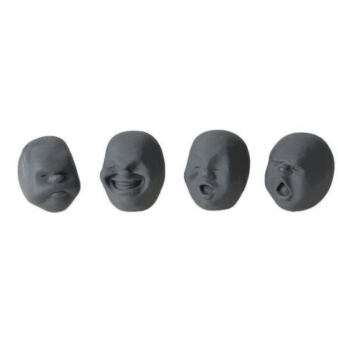 4шт Крепкий декомпрессионный препарат TPR Замедление Clownish Human Face Anti-Stress Vent Ball Relaxation Helper Stress Pressure Reducing Toy