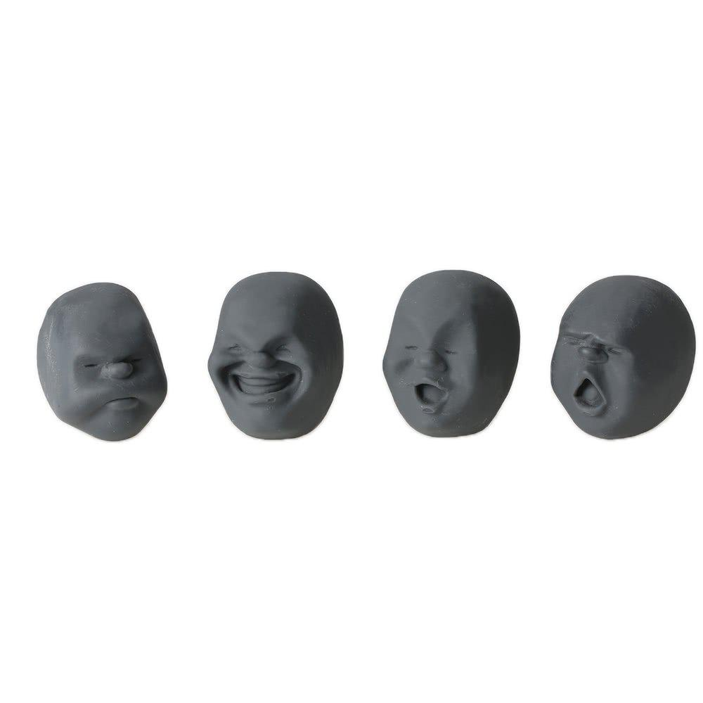 Shop 4pcs Creative Decompression Prop TPR Kneading Clownish Human Face Anti-Stress Vent Ball Relaxation Helper Stress Pressure Reducing Toy