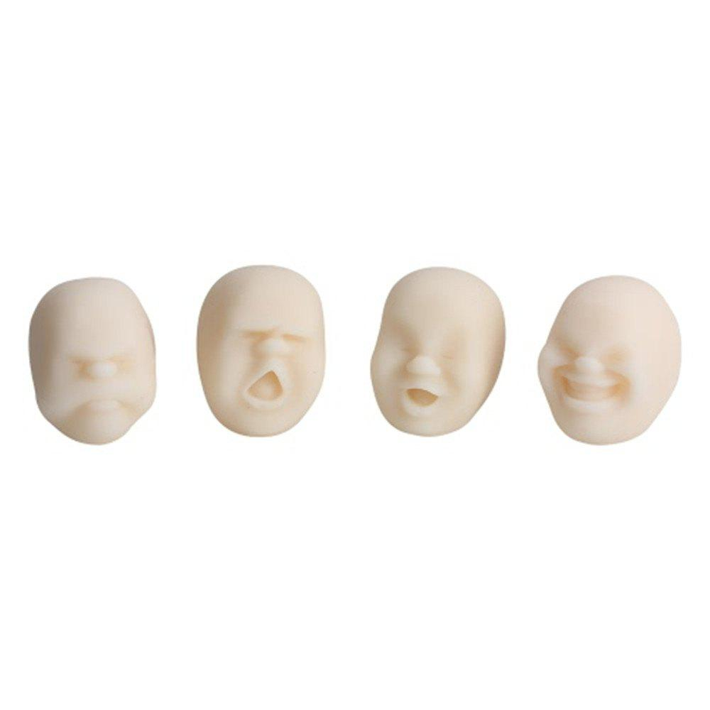 Outfit 4pcs Creative Decompression Prop TPR Kneading Clownish Human Face Anti-Stress Vent Ball Relaxation Helper Stress Pressure Reducing Toy