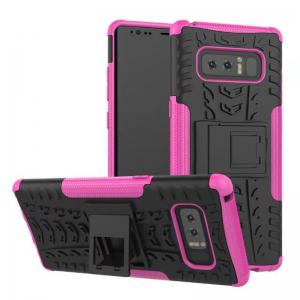 2 in 1 Silicone Phone Case Protective Cover Full Protection Shell for Samsung Note 8 -