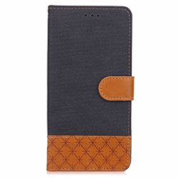 Hit Color Cowboy Stripe Leaf Card Lanyard Pu Leather for HUAWEI P9 Lite -